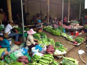 Markt in Ho Chi Minh, Vietnam